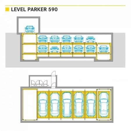 Level Parker 590 Volautomatisch Parkeersysteem